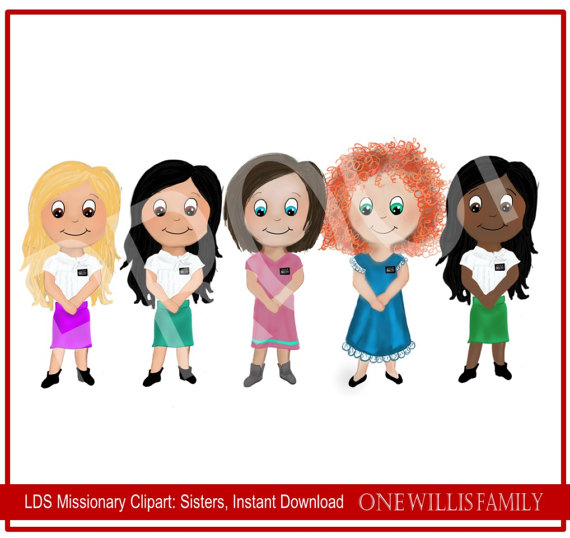 lds missionary clipart instant download sister missionaries lds rh pinterest com lds missionary clipart free lds missionary clipart free