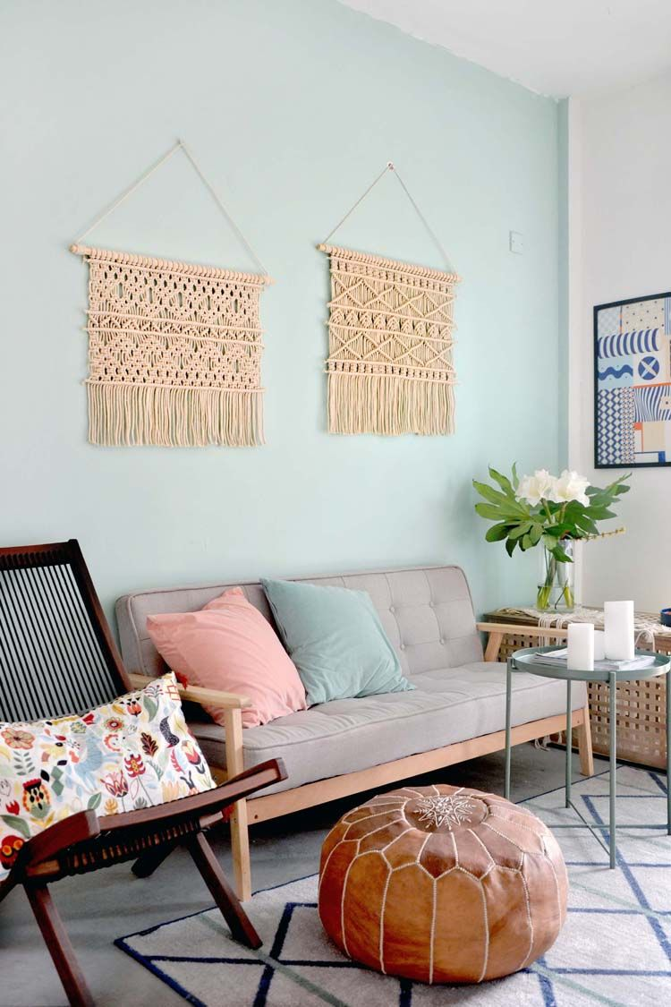 Macrame Wall Hanging Decoration Wall Art Handmade Tapestry Murale