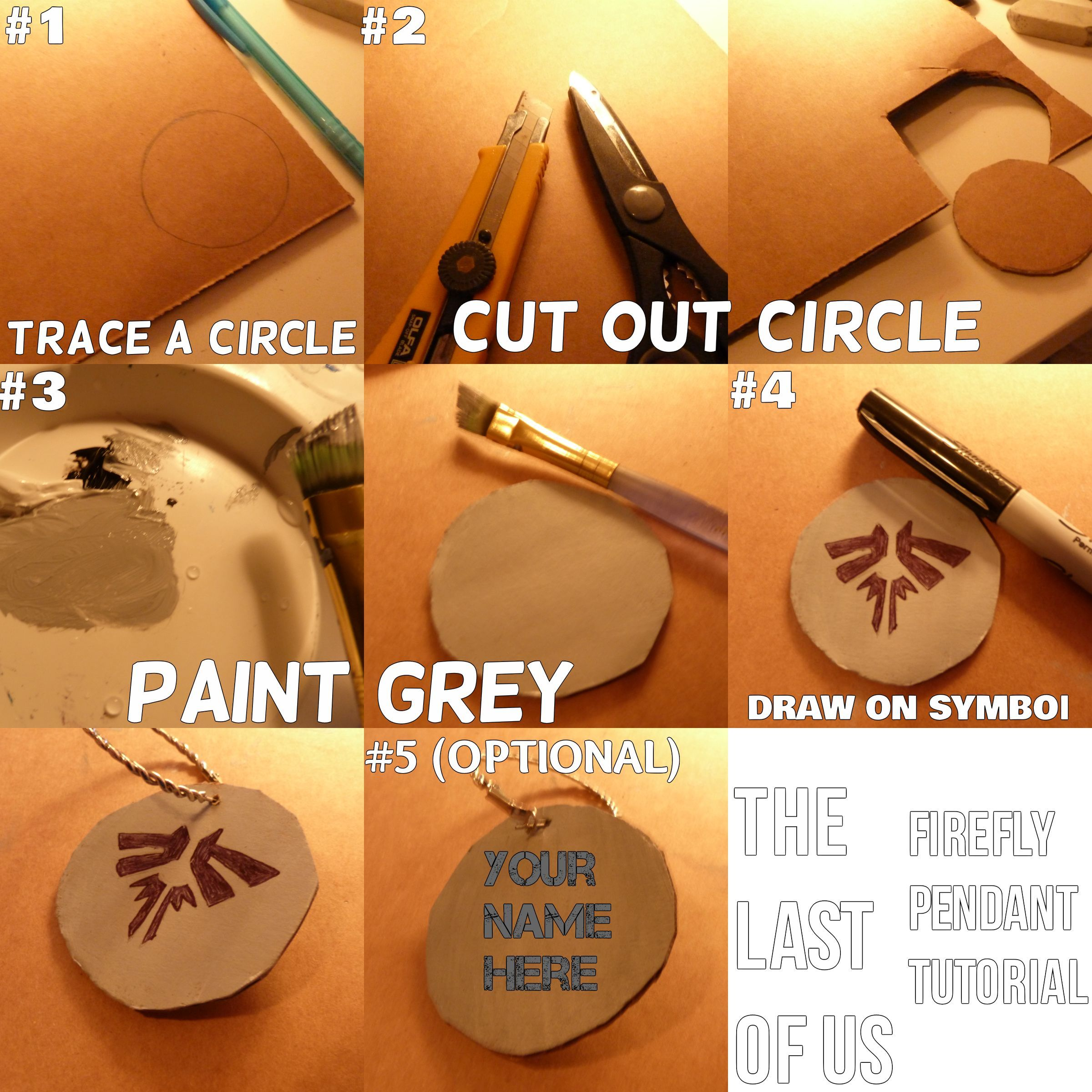 The last of us firefly pendant diy super easy tutorial diy the last of us firefly pendant diy super easy tutorial mozeypictures Gallery