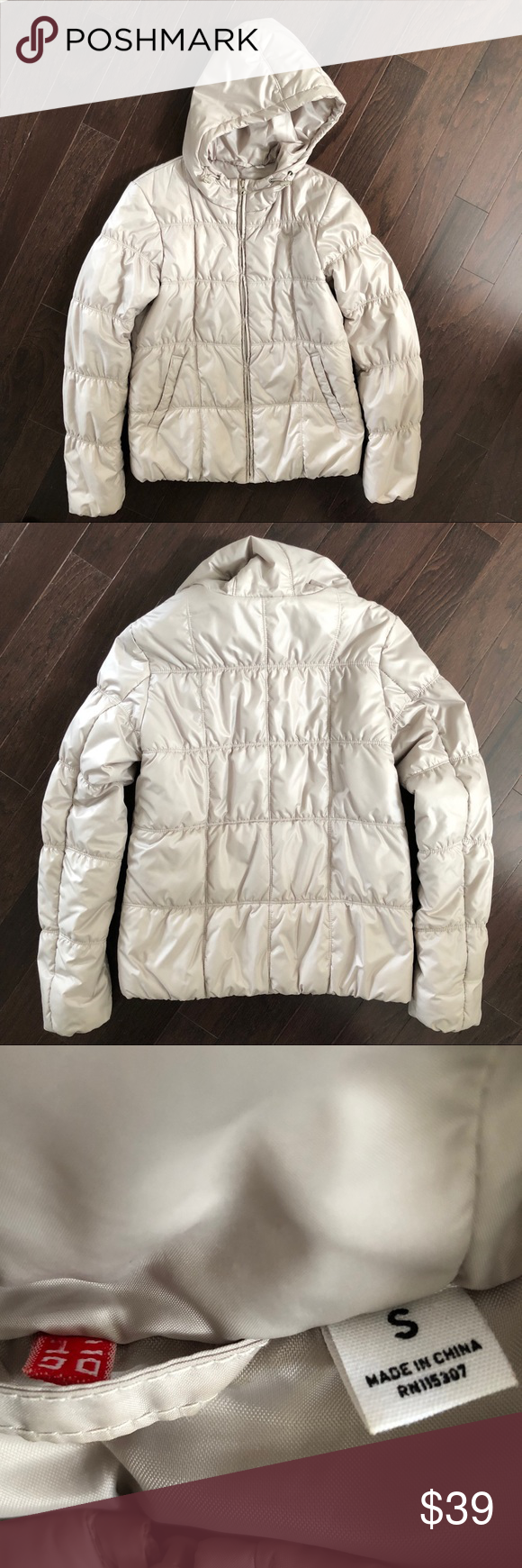 2d841a858 Uniqlo Puffer Jacket Excellent used condition! Super warm and cozy.  Beautiful champagne color that is hard to capture in photos. Uniqlo Jackets  & Coats