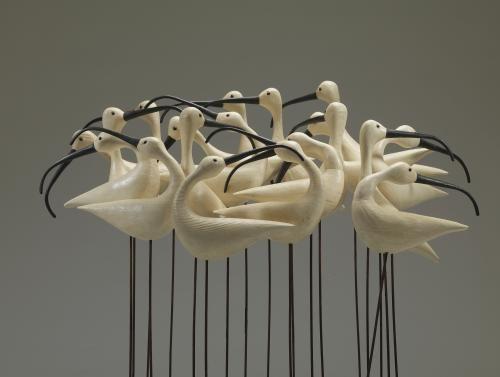 Guy Taplin Bird Sculpture Driftwood Art Bird Carving