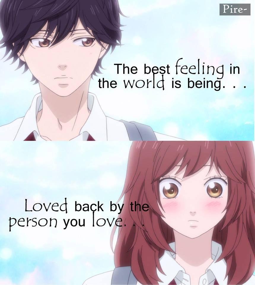 Ao Haru Ride Anime Frases E Citações