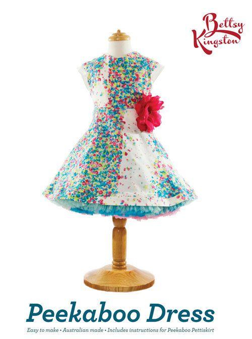 Girls Dress Pattern, Peak-a-b00 Dress Pattern, Sewing Patterns ...