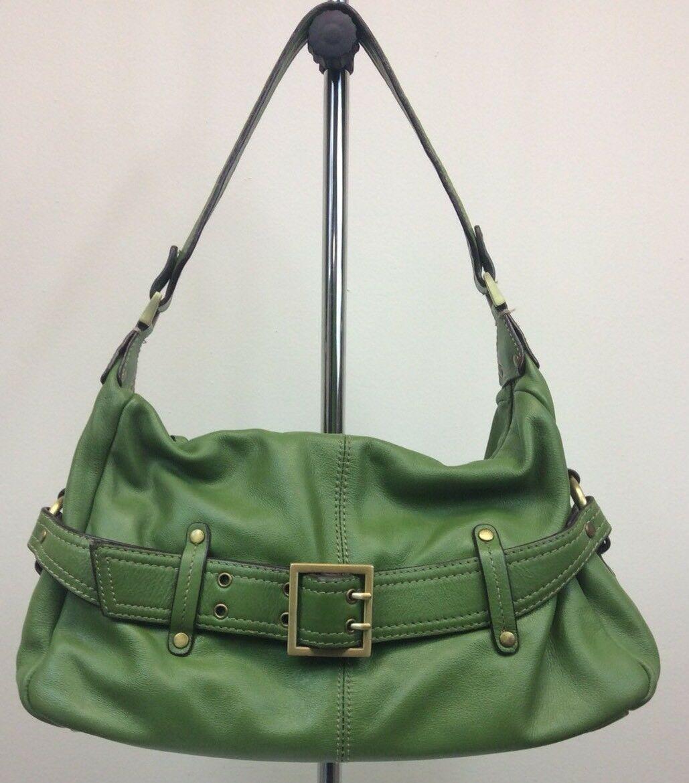Details about Wilson Leather Green Purse Handbag Medium in