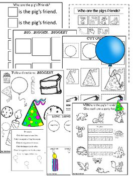 If You Give A Pig A Party Literacy Companion Fun