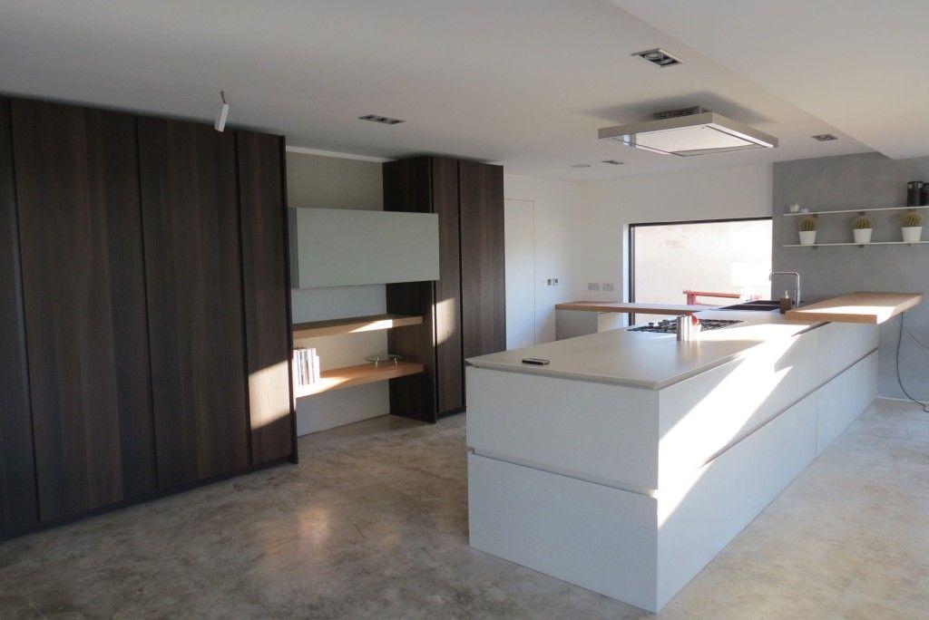Contemporary Kitchen Flooring use polytec's bottega oak woodmatt (new 2017 range) or cafe oak