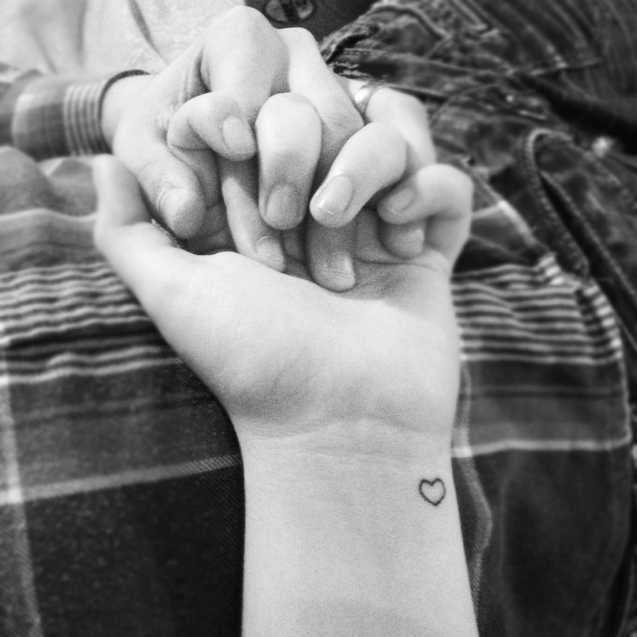 Wrist love tattoo hands