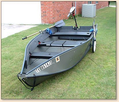Porte-Bote folding boat  Can take up to a 15 hp outboard
