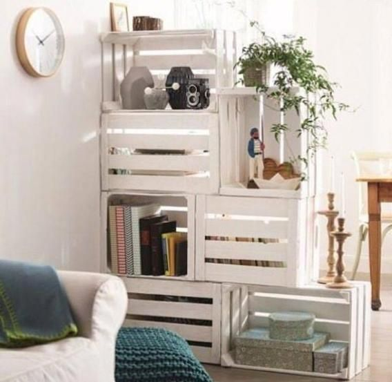 wooden crate furniture. A Little Paint Job Does Wonders In Making Homemade Bookshelf Look Chic. Source: L\u0027Art De La Caisse Via Recyclart Wooden Crate Furniture G