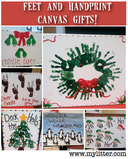 Footprint Canvas Christmas Pictures Last Minute Gift