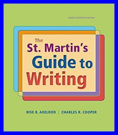 The st martins guide to writing 11th edition by rise b axelrod the st martins guide to writing 11th edition by rise b axelrod pdf fandeluxe Image collections