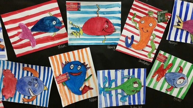 Dr seuss fish 2nd grade art seuss cards