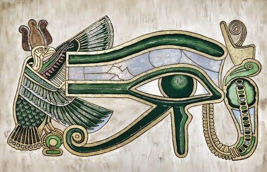 Quadro Olho de Horus em MDF