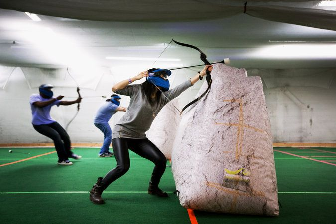 Did I find something cool and new? Archery Tag! - Ever since The Swan Princess I've wanted to play this!