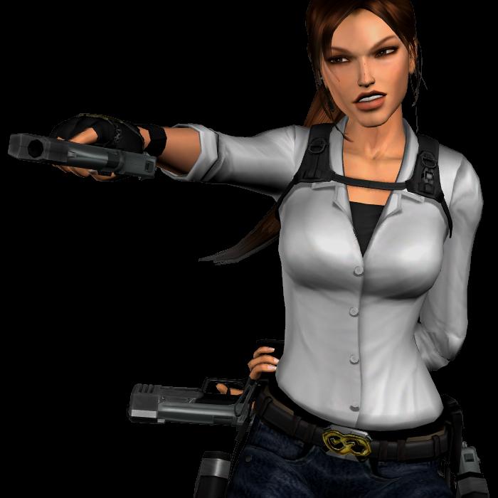 Lara Croft Tomb Raider With Guns Png Image Tomb Raider Lara Croft Tomb Lara Croft