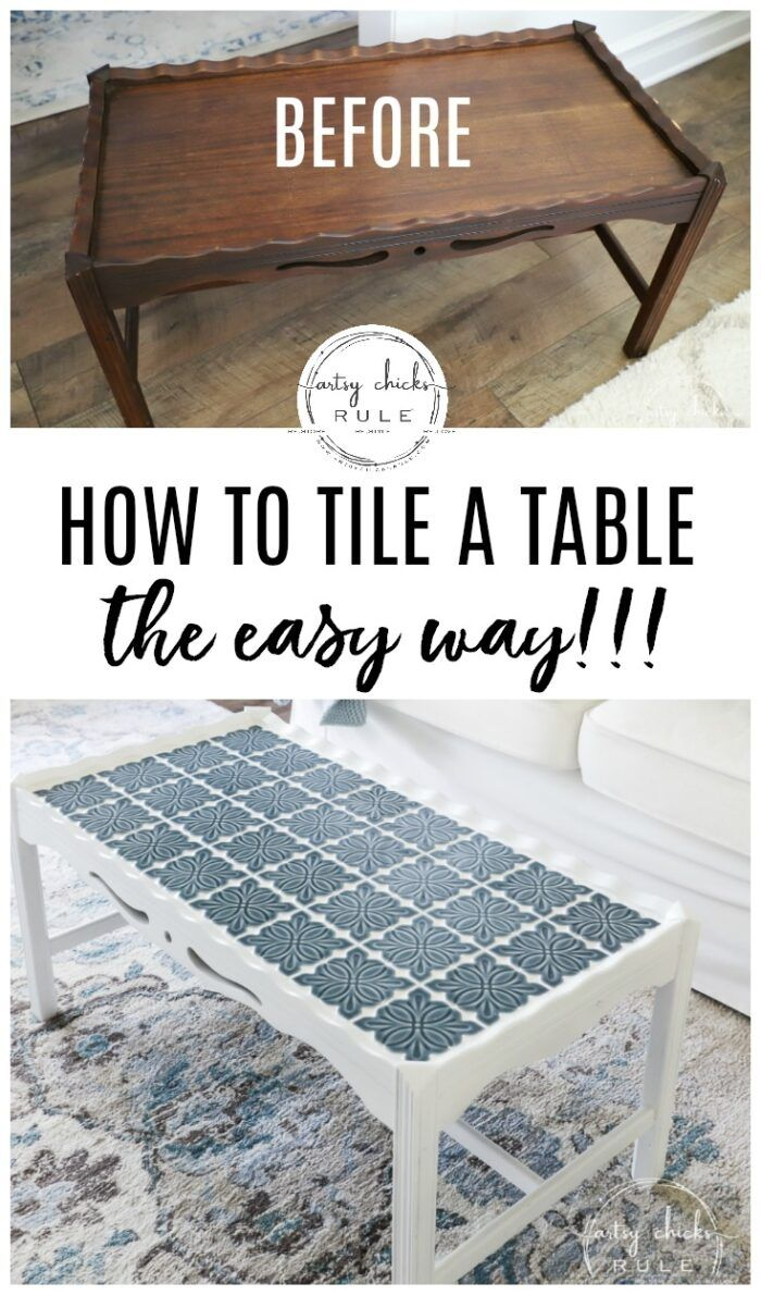 how to tile a table top or other furniture  decor the