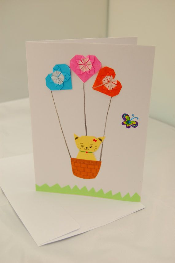 Origami Birthday Card Origami Catkitty And By Sallysartistry 499