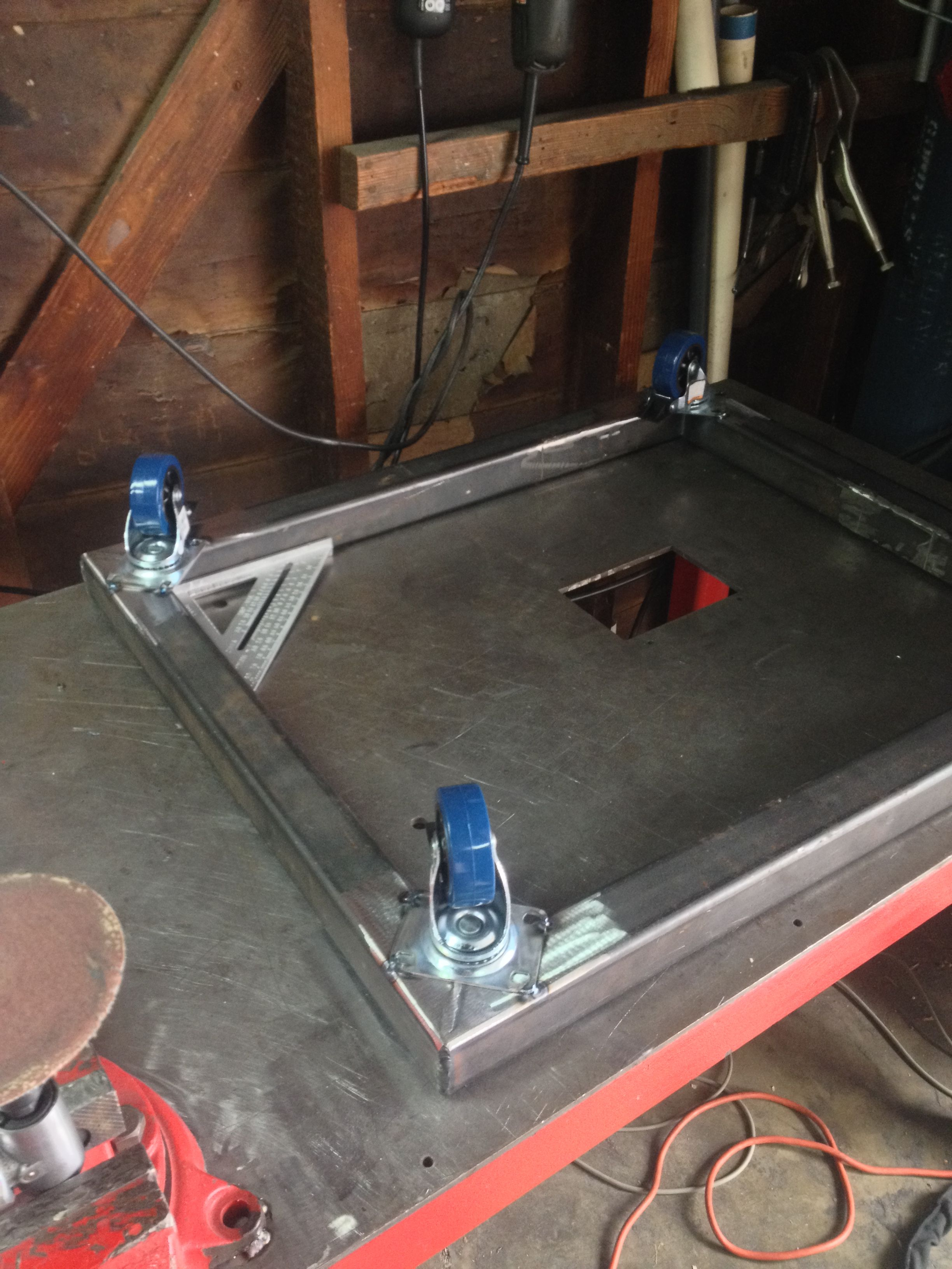 Tig welded square tube steel rolling stand for my router table tig welded square tube steel rolling stand for my router table harbor freight casters greentooth Images