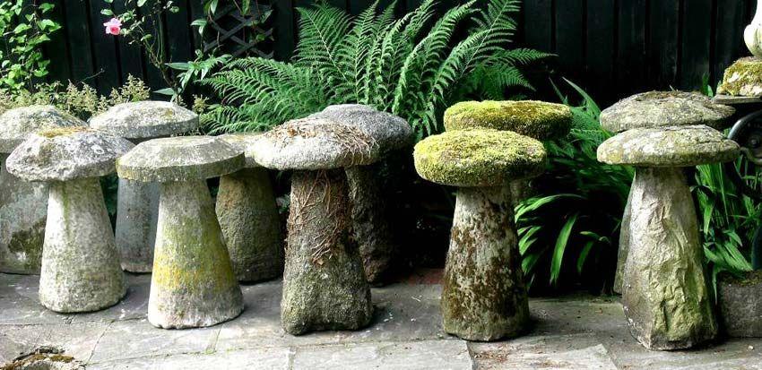 Assorted Staddle Stones Mushroom Stones Homestead Dreams