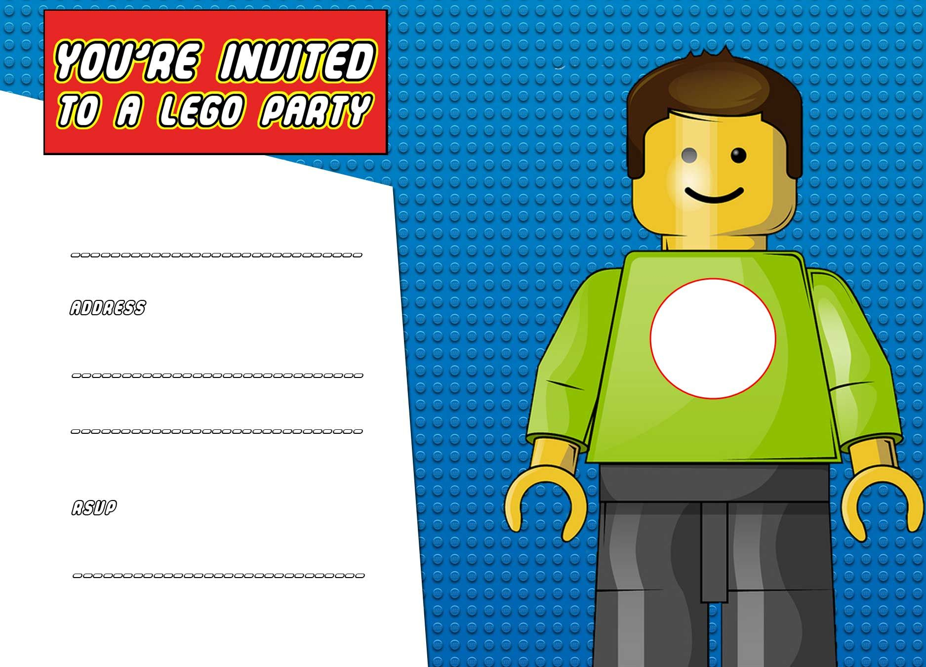 Download Now Free Printable Lego Birthday Invitation