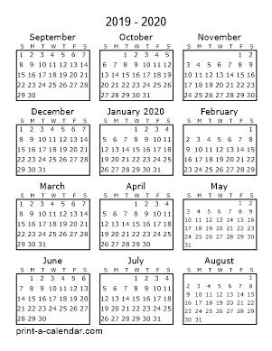 Make Your Own 2019 2020 Or 2021 Printable Calendar Pdf