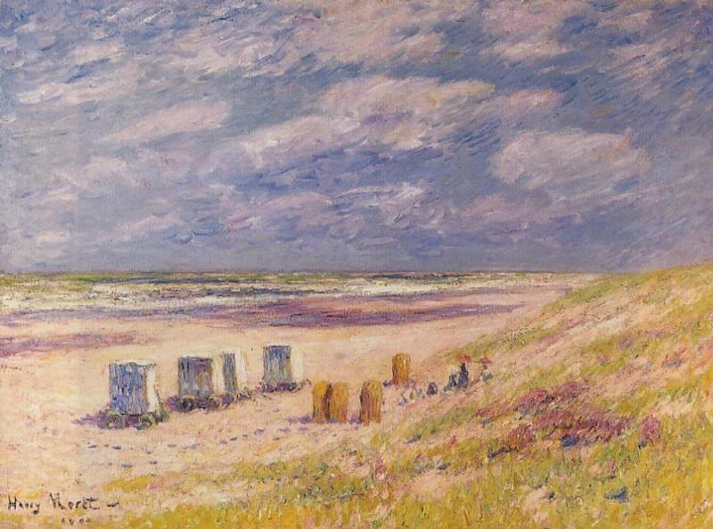 Henri Moret - le egmond Beach , Holland | Les arts, Art, Peintre francais