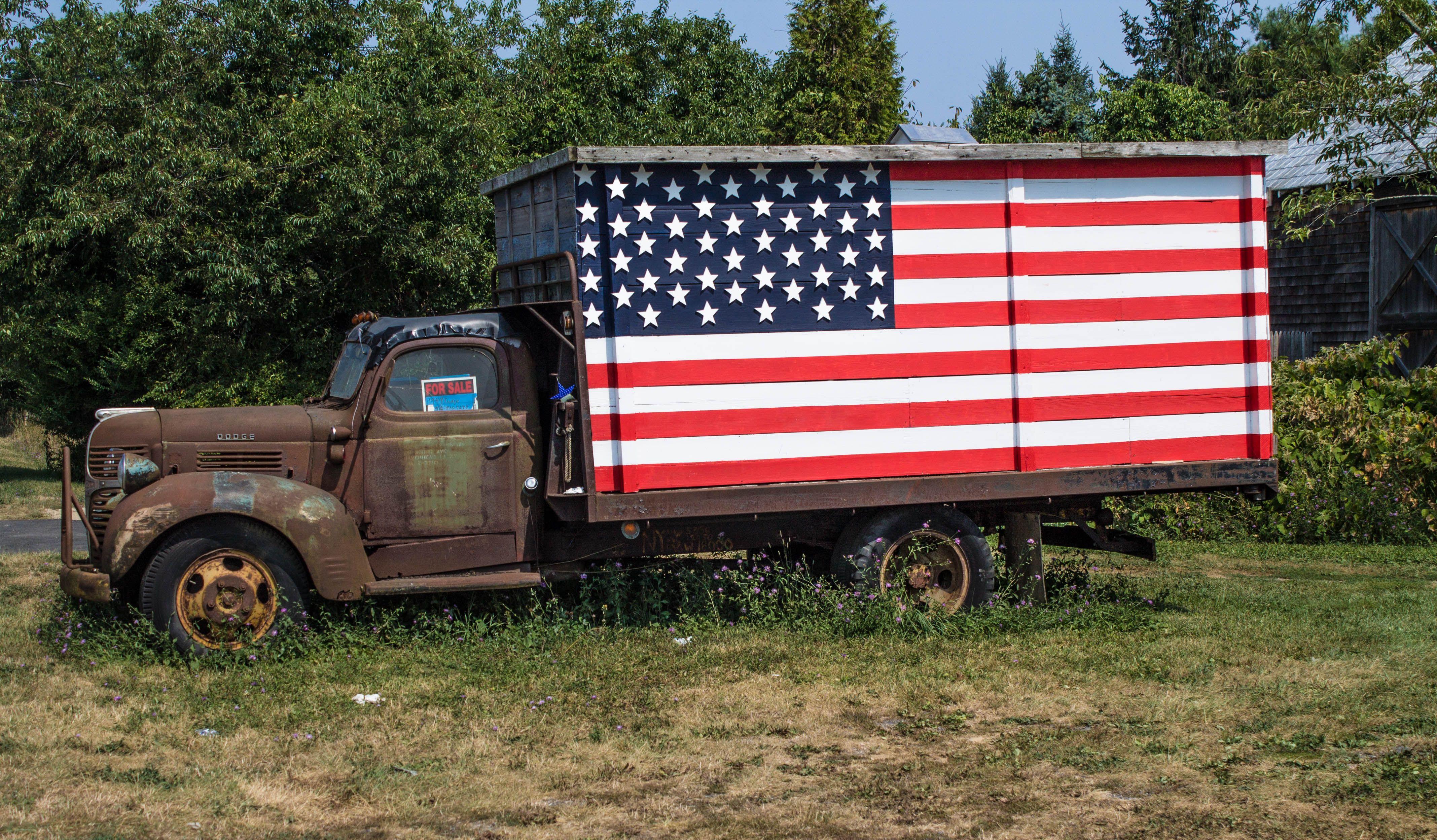 Old American Dodge truck Mattituck New York 09 03 2015
