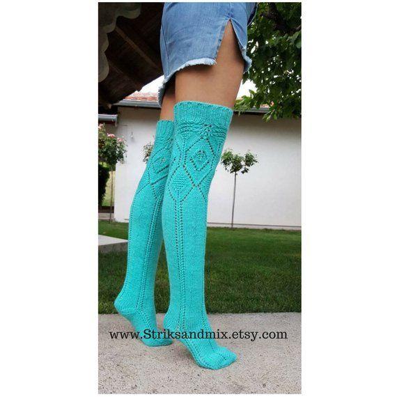 947ce417833 Turquoise Knee High Socks