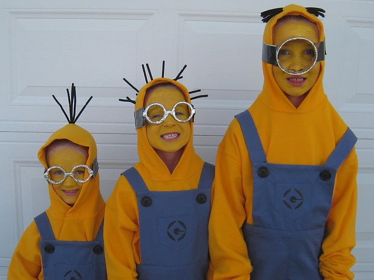 Despicable Me Minions - DIY Costume Idea for Kids & Minion Halloween Costumes | Costumes Diy costumes and Halloween ...