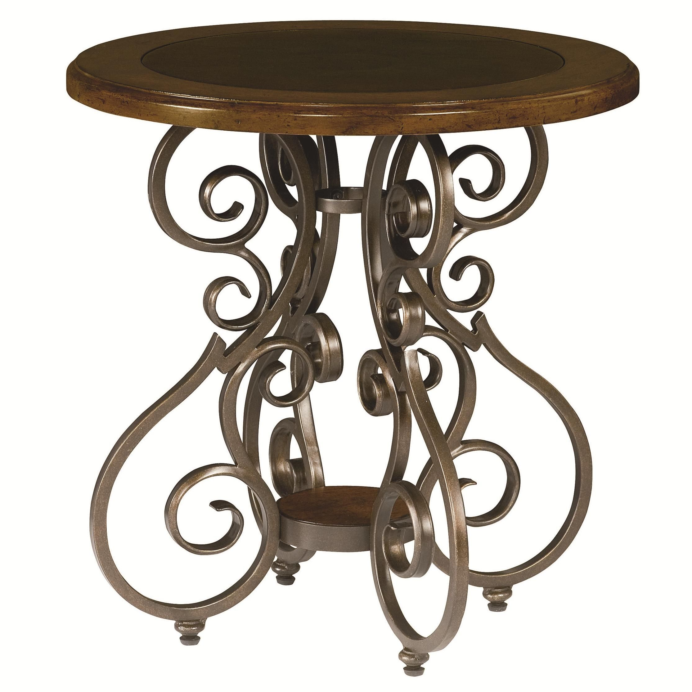 Homestead Round End Table By Hammary Living Room Accent Tables