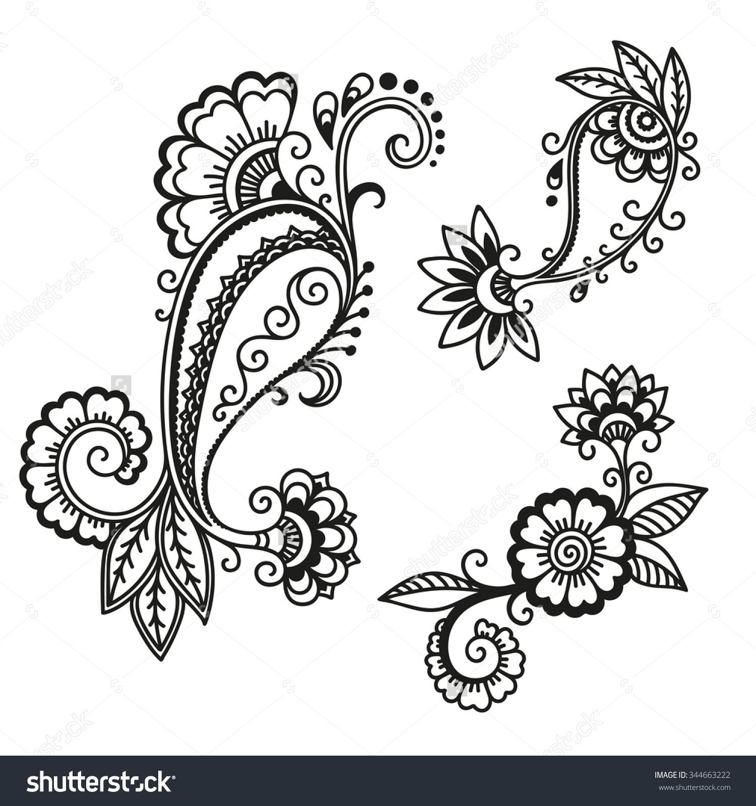 Mehndi Flower Chadar : Stock images similar to id kashmir henna design