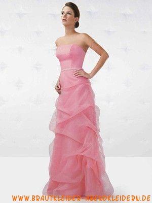 Pinkes maßgeschneidertes Abendkleid aus Organza