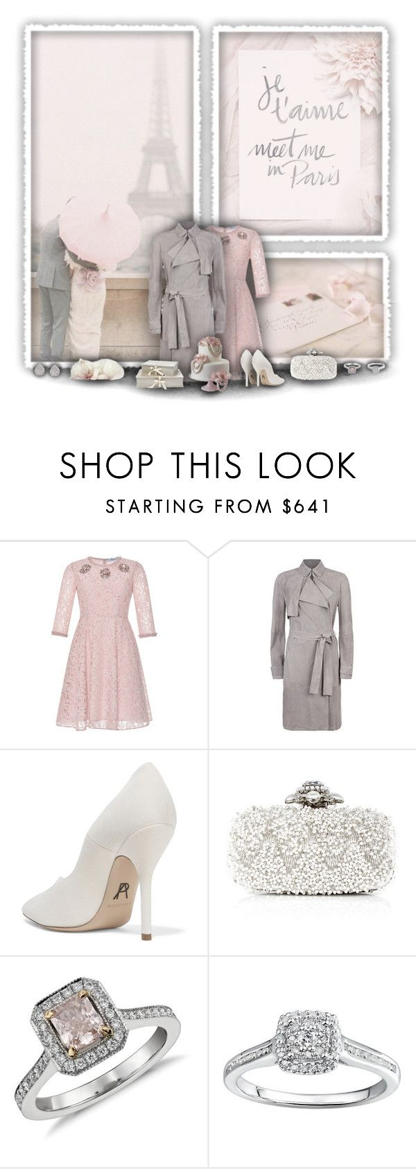 """Meet Me in Paris"" by rachelegance ❤ liked on Polyvore featuring Blumarine, Paul Andrew, Oscar de la Renta, Blue Nile, Monica Vinader, women's clothing, women, female, woman and misses"