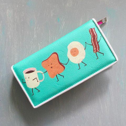 Breakfast Zip Wallet