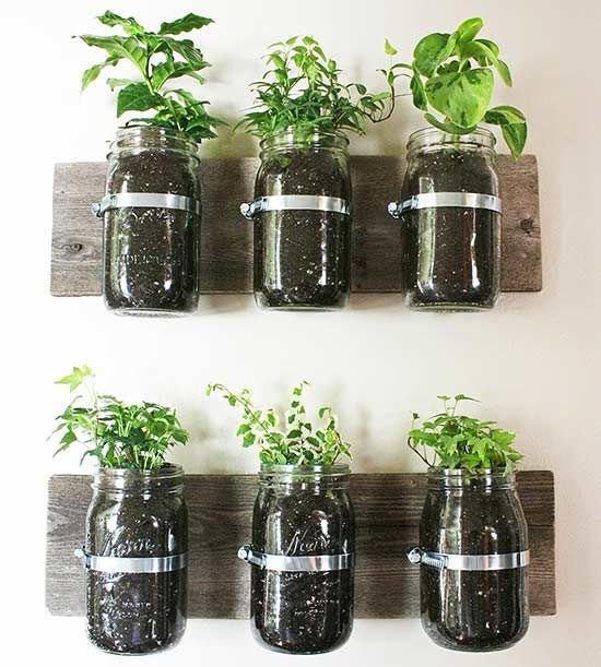 Diy Herb Gardens For Every Space Mason Jar Herb Garden 640 x 480
