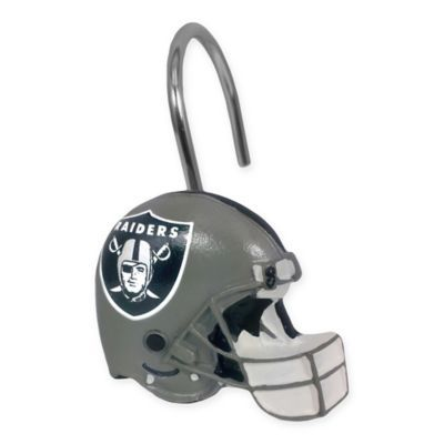 Nfl Oakland Raiders Shower Curtain Rings By The Northwest