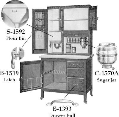 Bon Sellers Hoosier Cabinet Replacement Parts | Kitchen Cabinets Online, Kraftmaid  Cabinets, Hoosier Cabinet