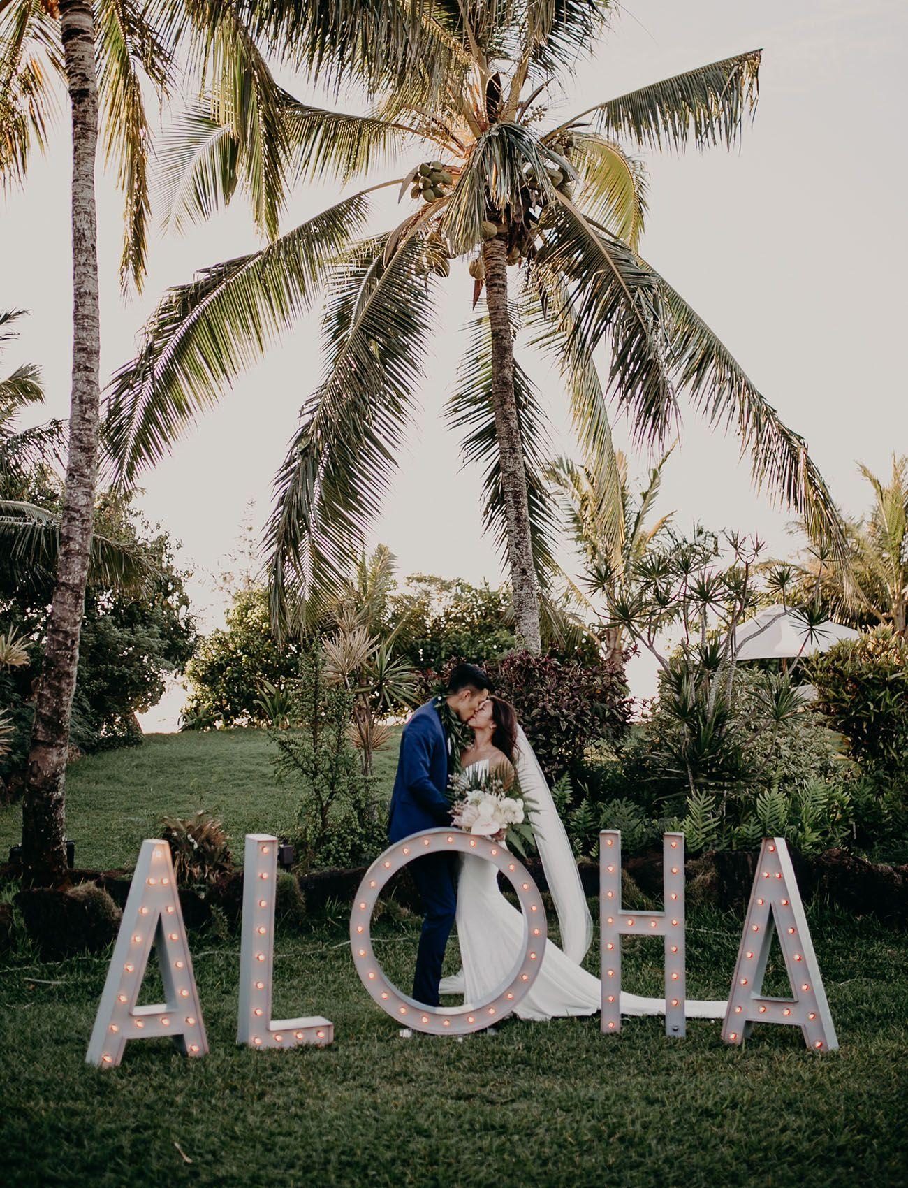 Tropical Bliss Lush Beachfront Wedding At A Palm Farm Estate In