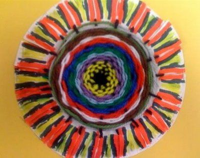 Oodles of Art Paper Plate Weaving/Design - great step by step instructions! & Oodles of Art: Very cool weaving art project. Perfect for November ...