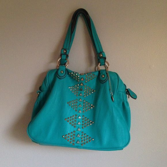 Buddha Studded Bag Teal Turquoise Handbag Great Condition Comes With A Shoulder Strap Make Offers Bags