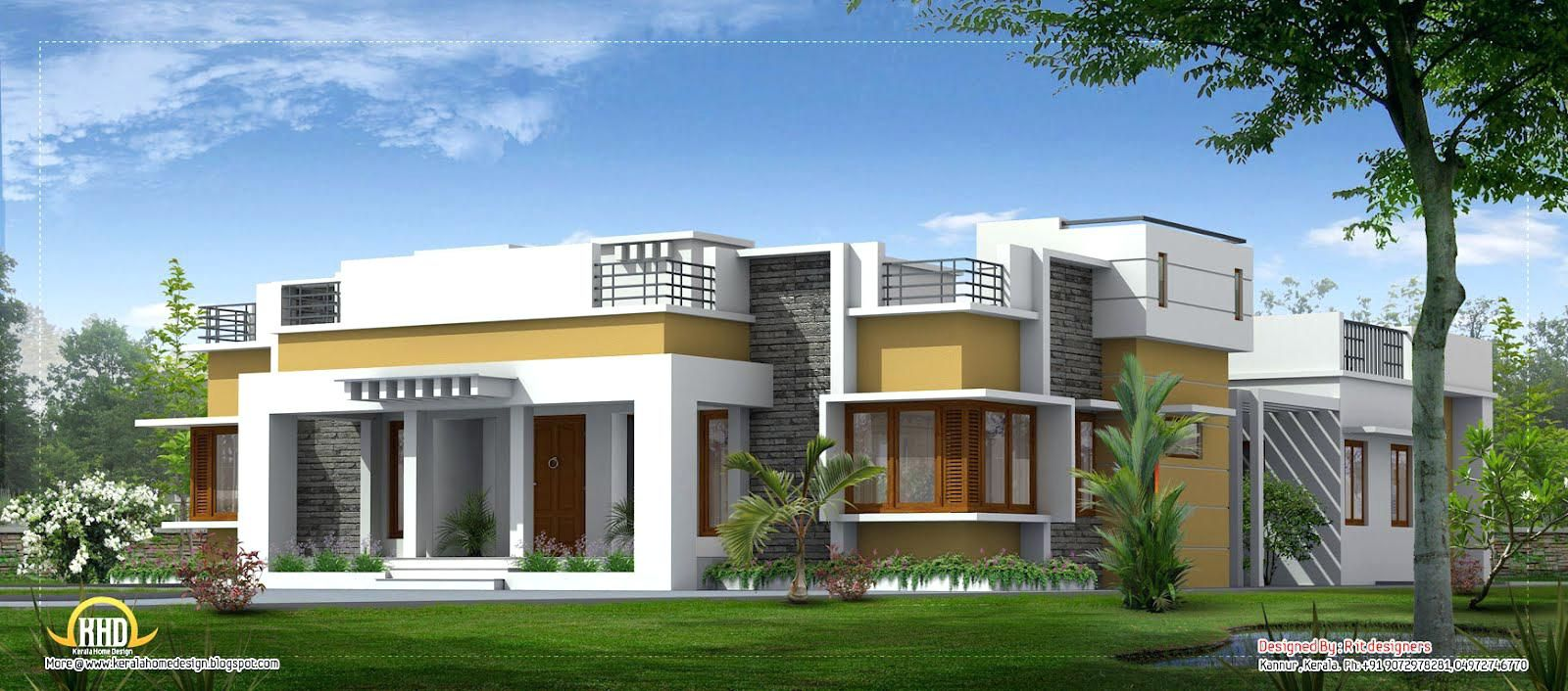 Single storey contemporary house designs in kerala