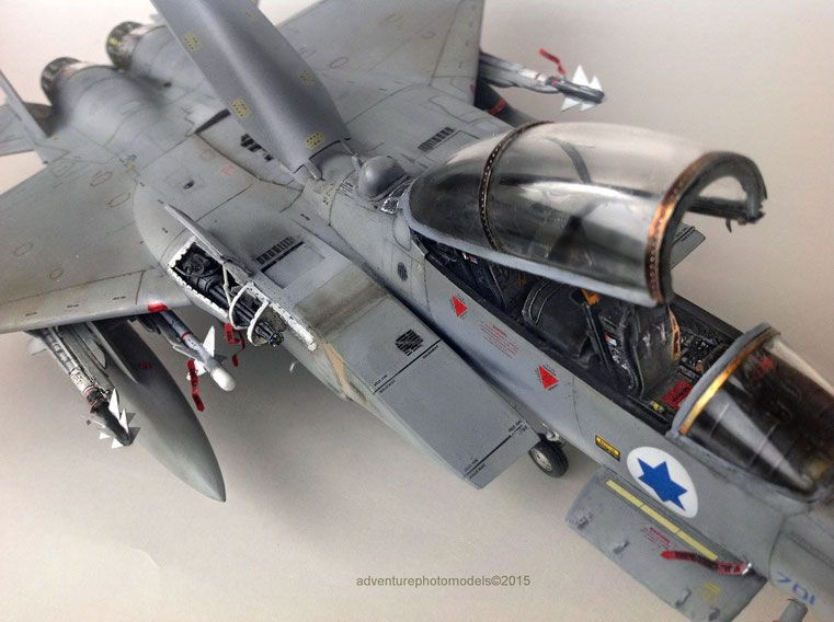 boeing f 15 ds israeli air force improved baz great wall hobby kit 1 48 scale model customized