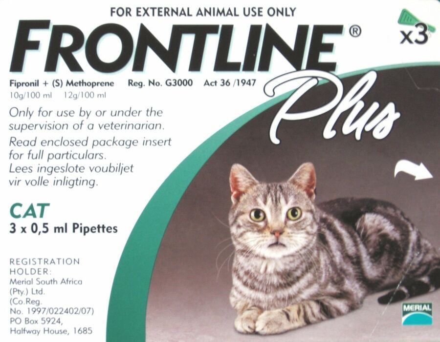 Details About Frontline Plus For Cat 8 Weeks Or Older 3 Or 6