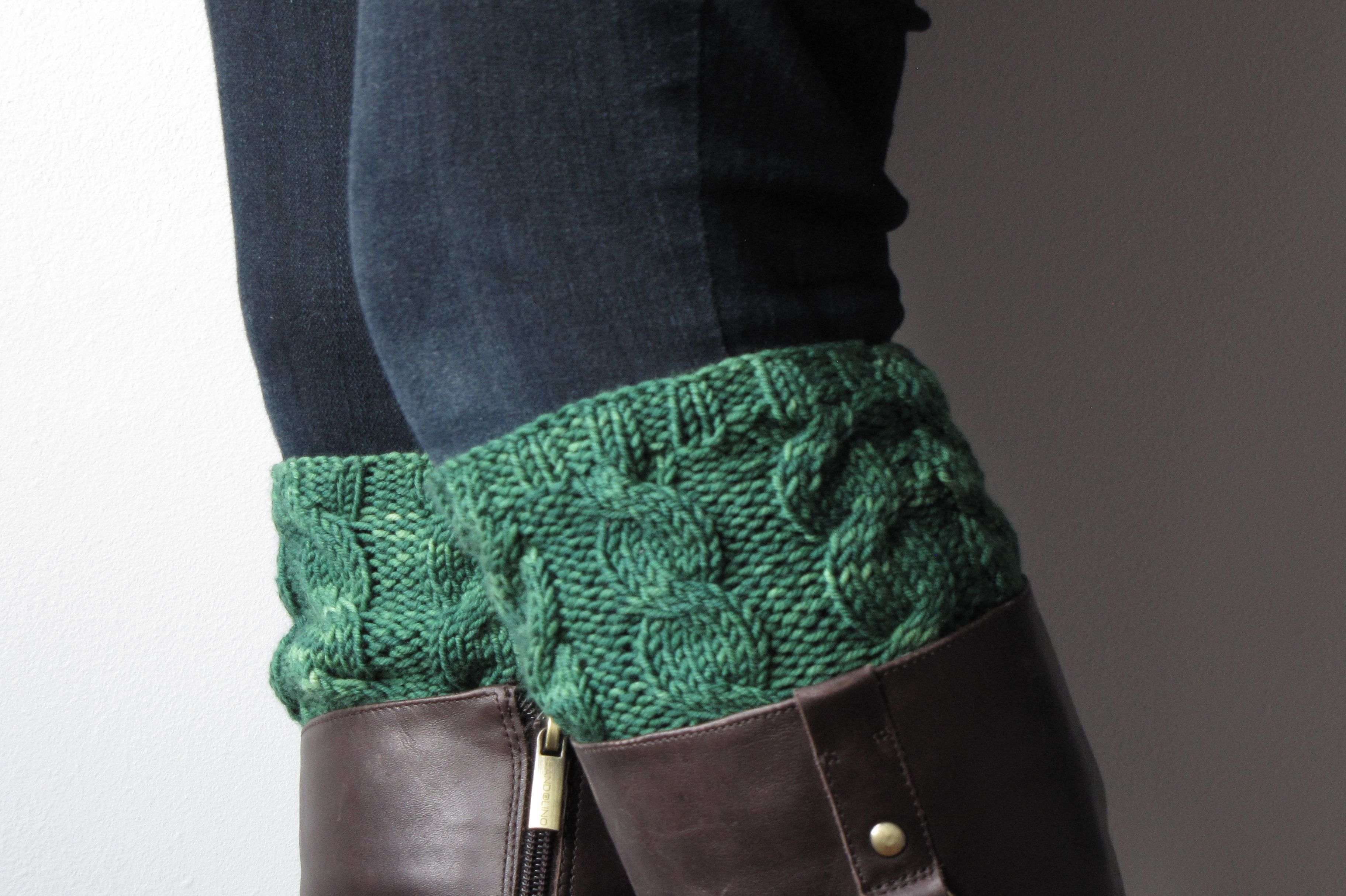 A Knitting Pattern for August: Cabled Boot Cuffs | Knit patterns ...