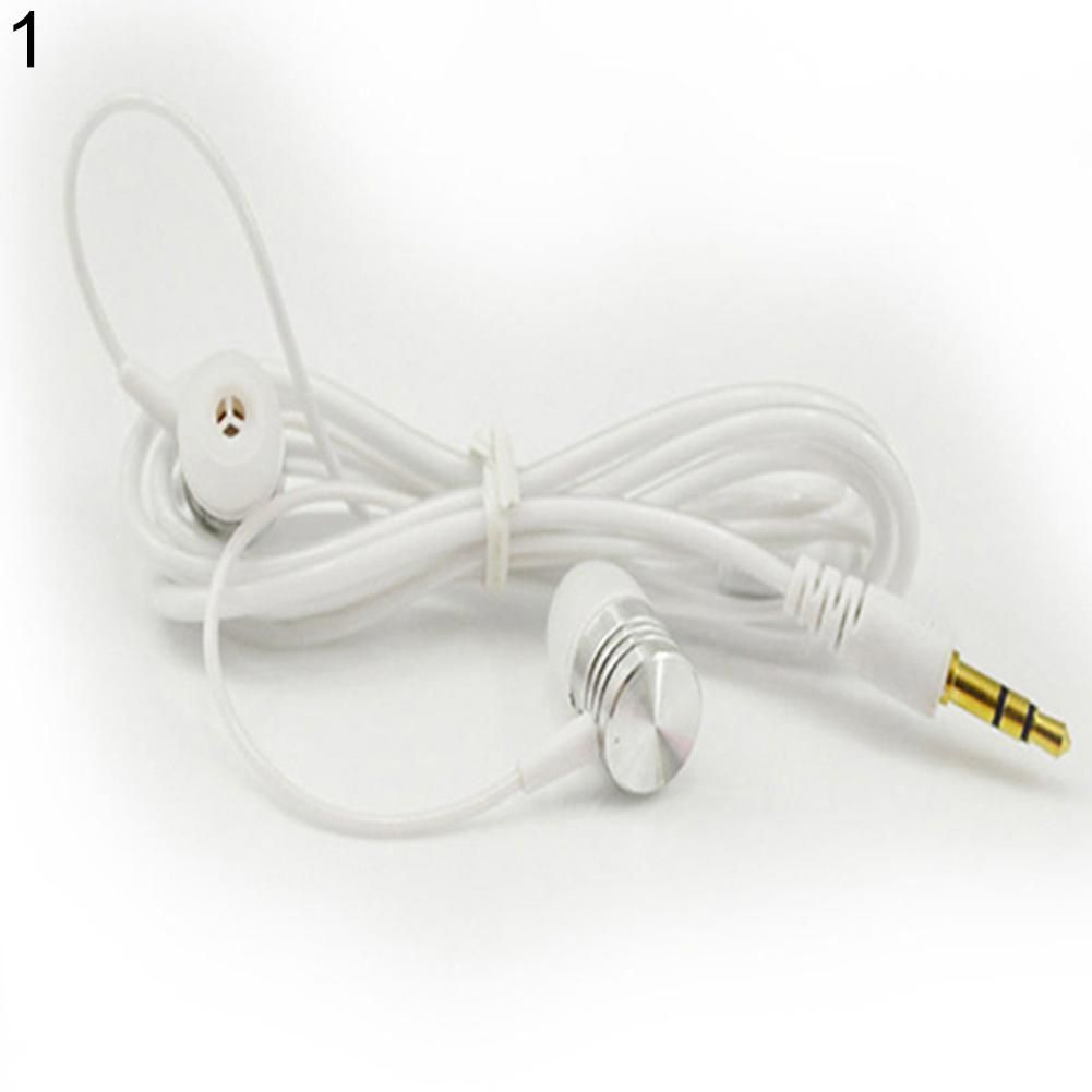 Universal 3.5mm In-ear Stereo Earbuds Headphone Earphone Headset for Cell Phone - White