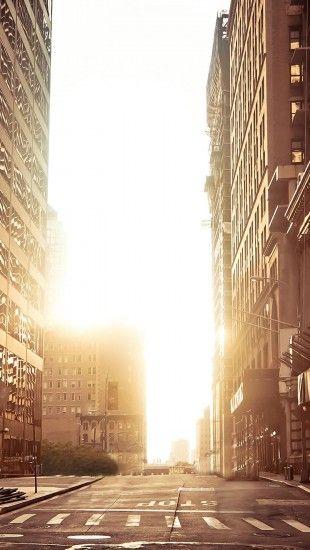 New York Empty Street Iphone Wallpaper