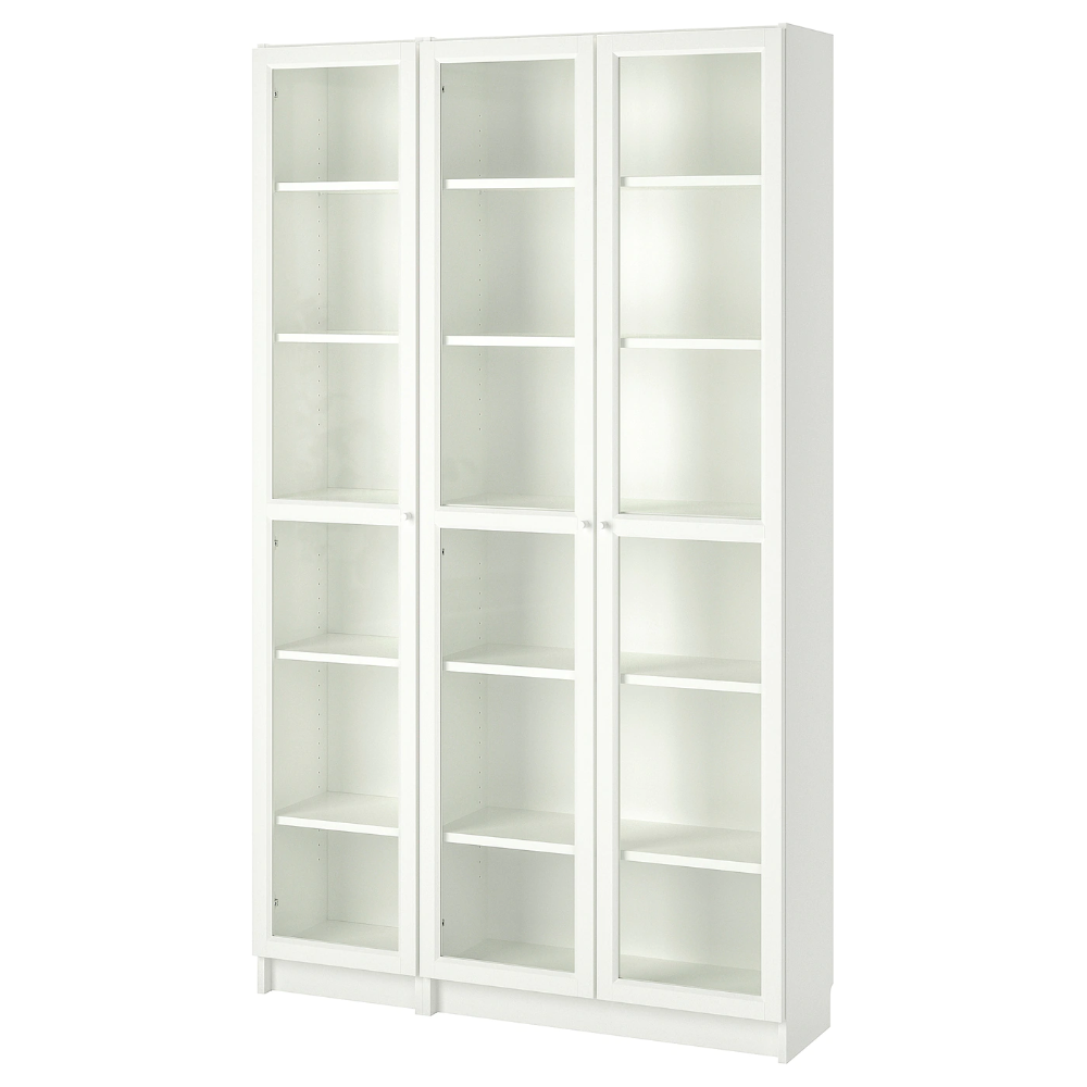Billy Oxberg Bookcase With Glass Doors White 47 1 4x11 3 4x79 1 2 In 2020 Bookcase With Glass Doors Glass Cabinet Doors Glass Door