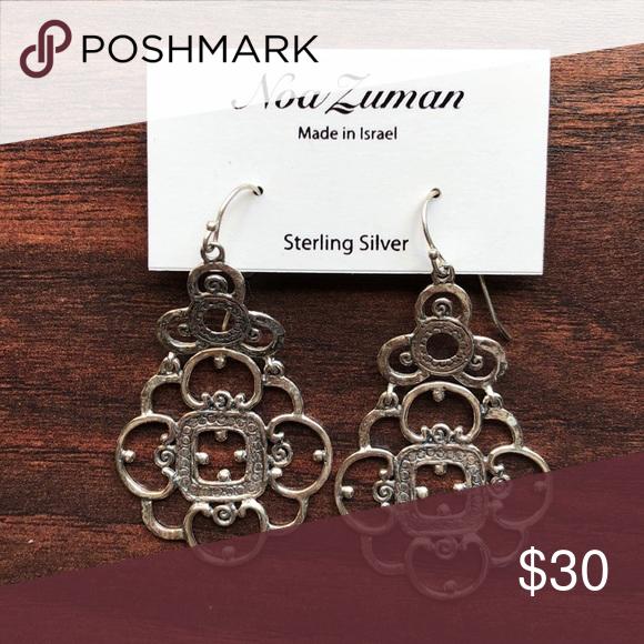 17b8bba5d NOA ZUMAN STERLING EARRINGS Sterling silver earrings made in Israel. These  filigree dangle earrings are