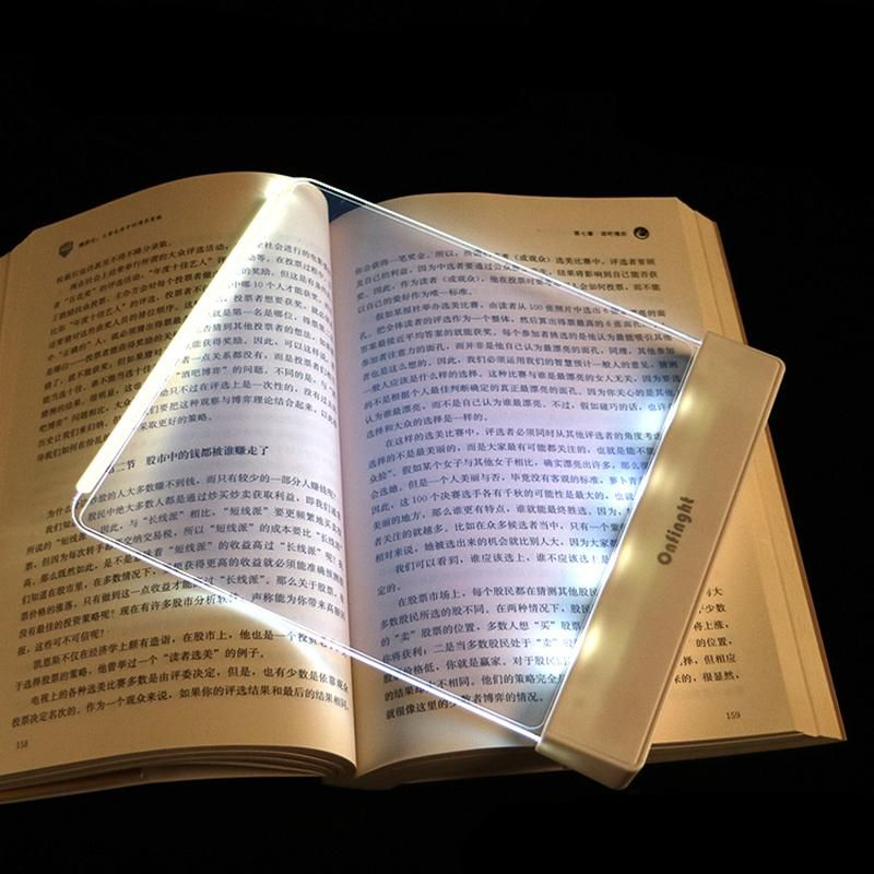 Flat Glass Reading Light Plate Book Lights Reading Lamp Book Lamp