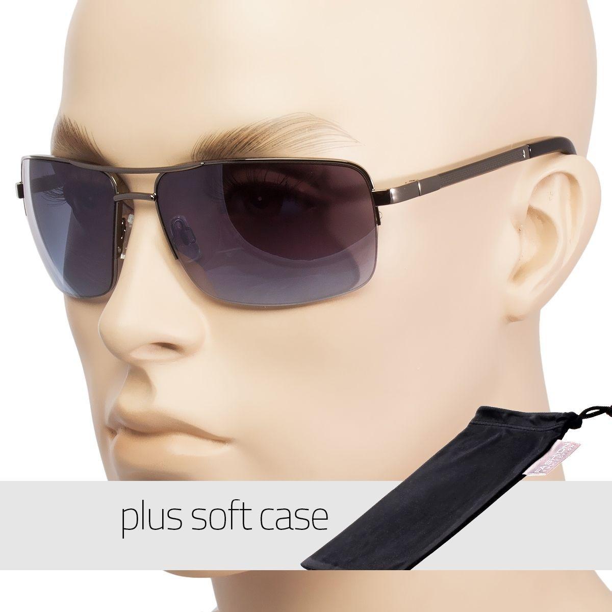 6454dbe7c0d6 Classic Retro Men Fashion Metal Pilot Vintage Designer Sunglasses Pouch Z